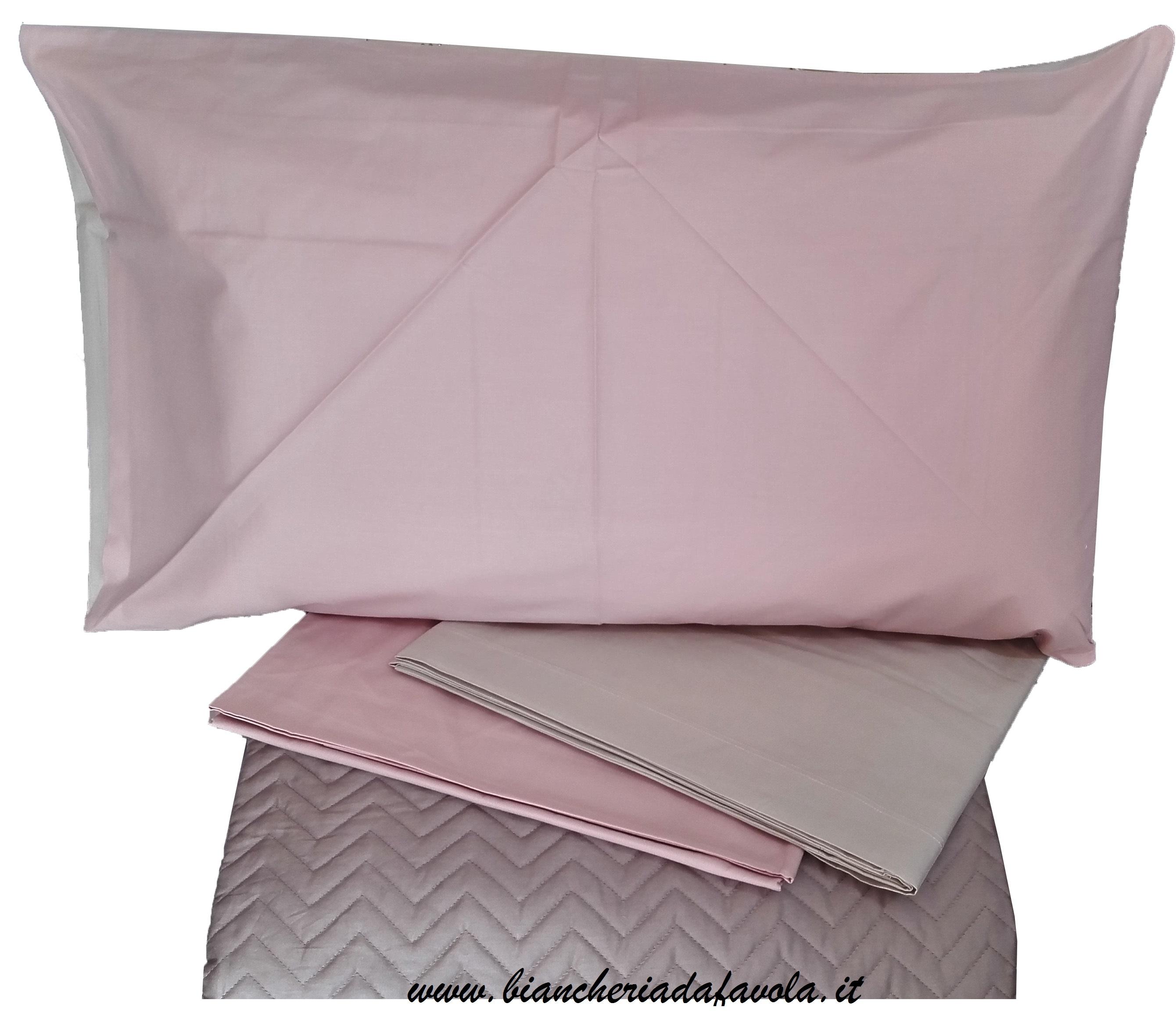f34a83faad Parure Lenzuolo Matrimoniale – Bi Colore rosa confetto-begie